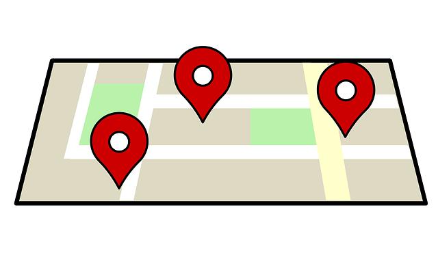 pozice na mapě