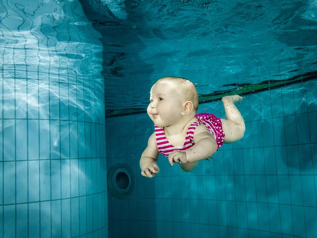 dítě plavec