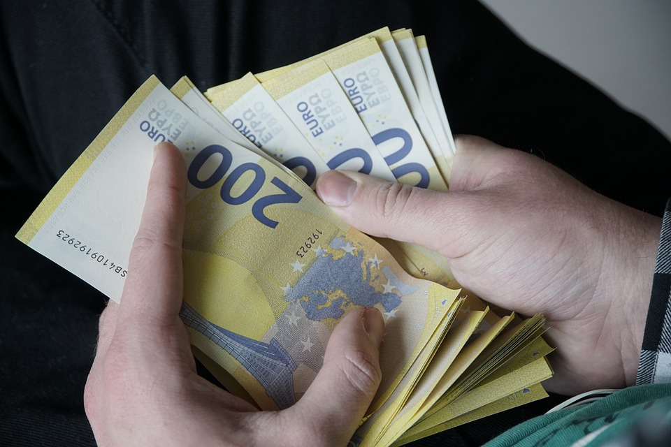 počítání eur